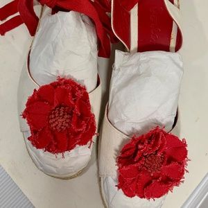 Boden Espadrilles Wedges with Ankle Laces, Size 10